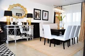 black and white dining room ideas black and gold