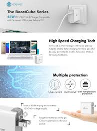 amazon com iclever usb type c 45w wall charger with power