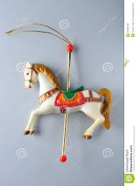 Unicorn Christmas Ornament Carousel Horse Ornament Of Christmas Tree Stock Photo Image Of