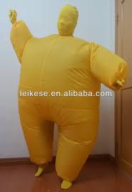 Fat Suit Halloween Costume Yellow Morph Inflatable Suit Costume Buy Morph Inflatable Suit