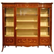 Antique Breakfront China Cabinet by Mahogany Inlaid Antique Display Cabinet By Edwards And Roberts At