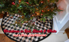 home decor in black and white tree skirt