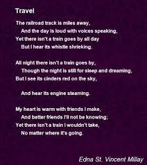 Travel poem by edna st vincent millay poem hunter