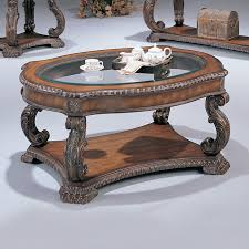 shop coaster fine furniture doyle glass coffee table at lowes com