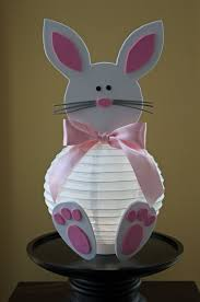 Easter Bunnies For Decorations by Diy Easter Bunny Paper Lantern With Foam Decorations Easter