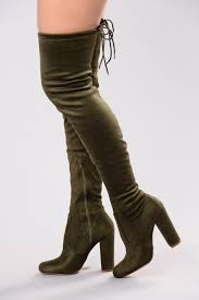 s high boots in thigh high boots olive