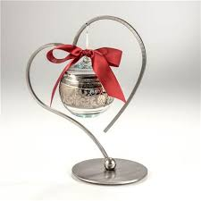 ornament holder single heart ornament holder steel one ornament