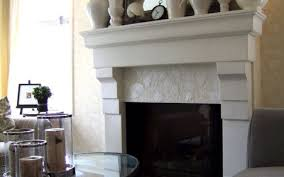 6x12 white tile fireplace stovers