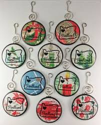50 state christmas ornaments disk christmas ornaments 4 5