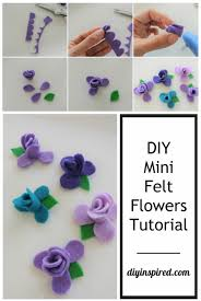 felt flowers diy no sew felt flowers diy inspired