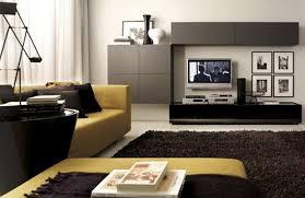 Yellow Living Room Rugs Yellow Sofa Dark Pillows Dark Rug Grey Cabinet And Black