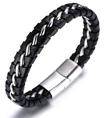 mens bracelet titanium images Halukakah quot solo quot men 39 s genuine leather bracelet with jpg