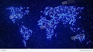 world map stock image digital blue world map loop stock animation 2194536 for pointcard me