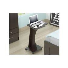 rolling computer desk office small laptop table cart portable