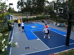 Basketball Backyard Backyard Backyards Trendy Basketball Backyard Court Design Photo