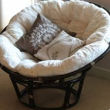 decor cool rattan papasan chair frame and double papasan cushion