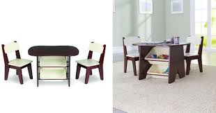 table and 2 chairs set imaginarium wooden table and 2 chair set espresso 69 98 reg