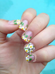 flower nail art naildawdle