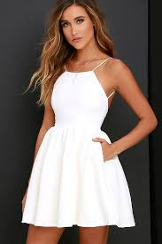 where to buy 8th grade graduation dresses chic freely ivory backless skater dress ivory homecoming and