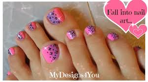 pink ombre toenail art design easy pedicure youtube