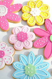 Easy Icing Flowers - spring flower sugar cookies by heavenly sweet confections pink