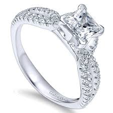 white gold princess cut engagement ring peyton 14k white gold princess cut vault jewelers