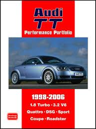 audi tt performance portfolio 1998 2006 r clarke 9781855207325