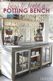 ideas how to build a potting table potting stands outdoor