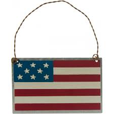tin american flag ornament 4 x 2 5 27593 craftoutlet