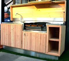 meuble cuisine exterieure bois meuble cuisine d ete dete evier lzzy co