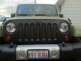 Rugged Ridge Billet Grille Inserts In Black Black Grille Or Black Mesh Inserts On Billet Jku Jeep Wrangler Forum