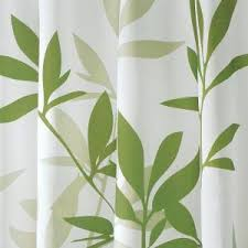 Leaf Design Curtains Interdesign Shower Curtain In White With Green Leaves 35630 The