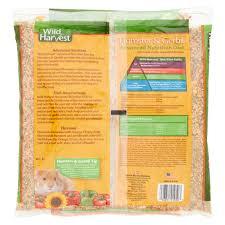 wild harvest hamster u0026 gerbil advanced nutrition diet 4 lbs