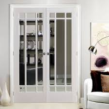 Interior Doors Uk Manhattan Door Pair With Bevelled Clear Glass And Fully Primed