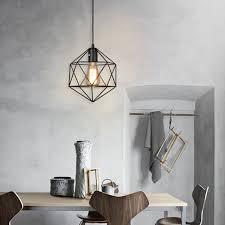 Iron Pendant Light Aliexpress Com Buy Dia 22cm Loft Diamond Iron Art Chandelier