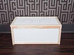 How To Make A Wood Toy Chest by How To Make A Dog Feeding Station From A Toy Box Hgtv