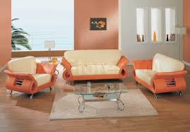 Leather Livingroom Sets Orange Leather Living Room Set Beautiful Leather Orange Sofa