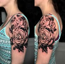 some black and grey roses by patey ink slave tattoos facebook