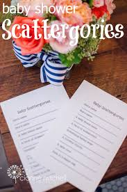 baby shower scattergories free printable game use the baby u0027s