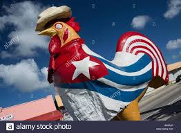 Florida Flag History Cuban Flag Painted On Giant Chicken Sculpture Eighth Street Little