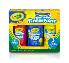 washable bold fingerpaint primary colors 3 ct crayola