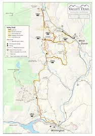 Map Vermont Valley Trail Dover Vermont