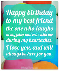 heartfelt happy birthday wishes and images for your best friend