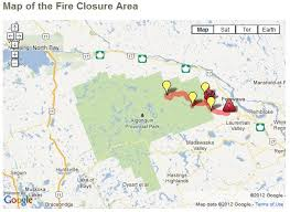 Algonquin Park Interior Camping View Topic Algonquin Park Restricted Fire Zone Declared