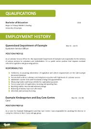 Example Resume For Teacher 28 Sample Resume For Teachers Australia 25 Best Ideas About