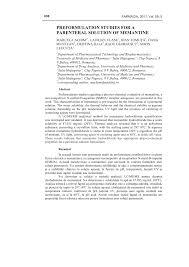 Cvr Pharmacy Preformulation Studies For A Parenteral Solution Of Memantine Pdf