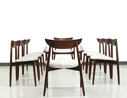 set of eight rosewood danish dining chairs by harry ostergaard for
