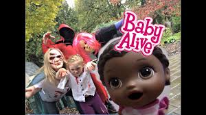 party city halloween toys baby alive gets a bad babysitter the lilly and mommy show