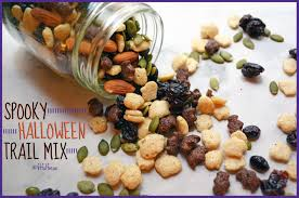 spooky halloween trail mix vegan gluten free