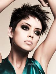 short choppy razored hairstyles choppy short hairstyle with soft spikes and extremely short sides